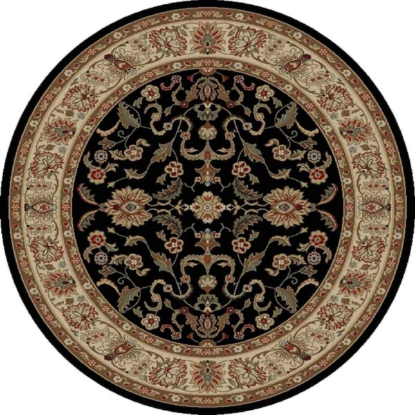 "Concord Global Ankara Mogul Black Rug - 7'10"" x 7'10"""