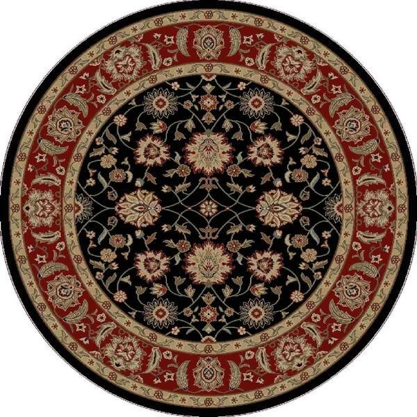 Ankara Chobi Black Round Rug