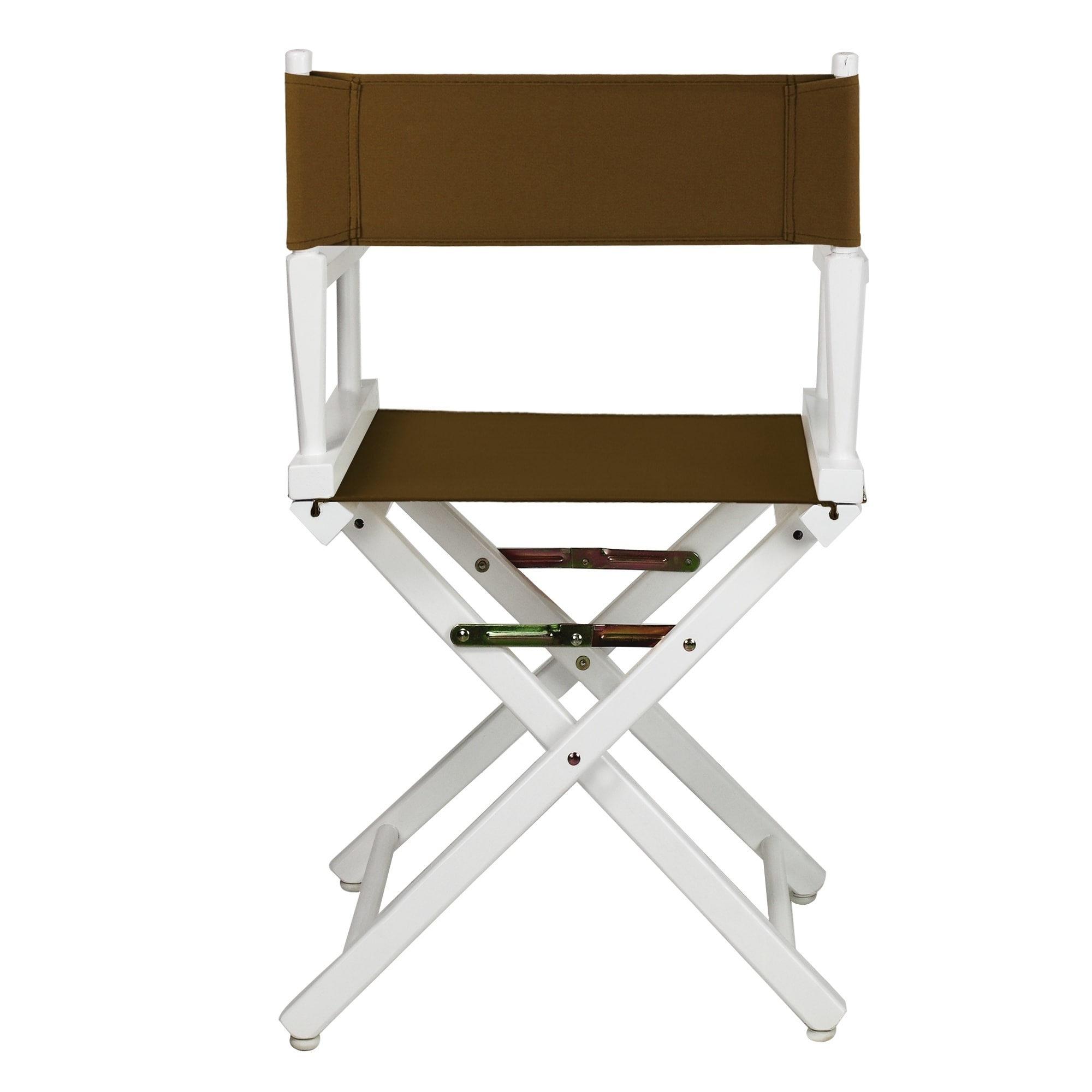 Fine 18 Directors Chair White Frame Brown Canvas Ncnpc Chair Design For Home Ncnpcorg
