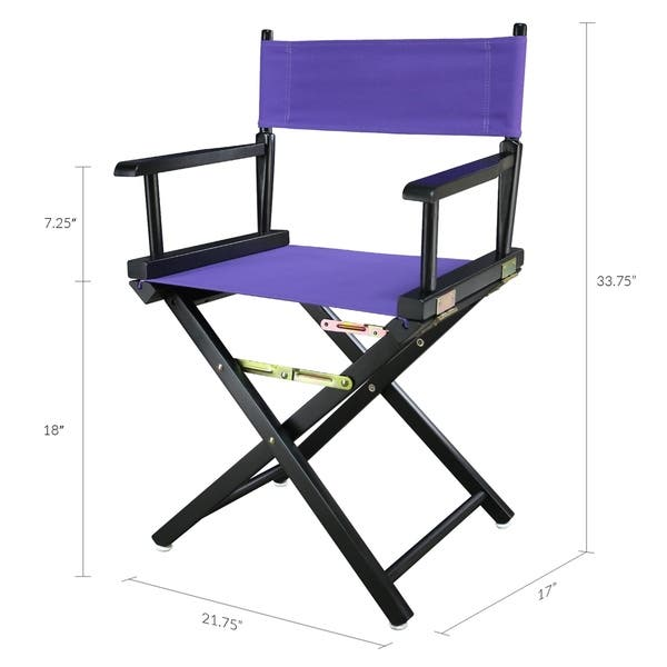 Groovy Shop 18 Directors Chair Black Frame Purple Canvas Free Squirreltailoven Fun Painted Chair Ideas Images Squirreltailovenorg