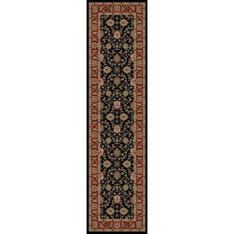 "Concord Global Ankara Chobi Black Runner - 2' x 7'3"" Runner"