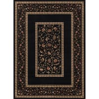 "Concord Global Ankara Serene Black Rug - 6'7"" x 9'6"""