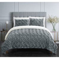 Chic Home Noam 7 Piece Bed in a Bag Pinch Pleated Comforter Set