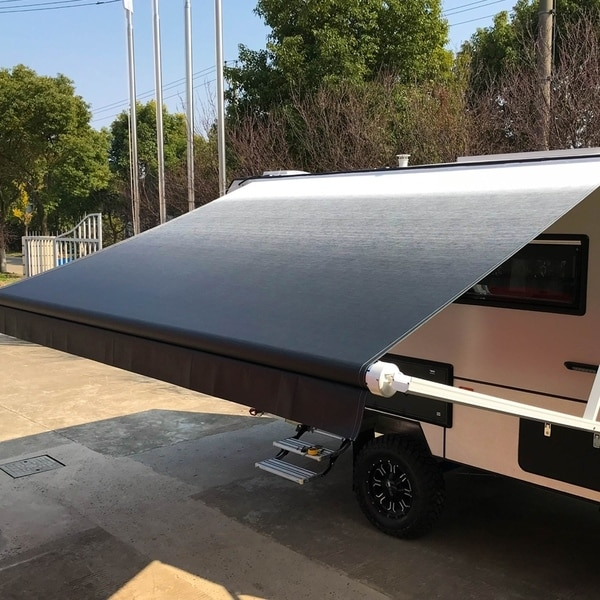 Shop Aleko Retractable Rv Or Home Patio Canopy Awning 20x8