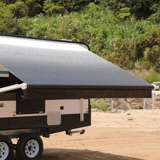 ALEKO 12'X8' Retractable Motorized RV or Home Patio Canopy Awning