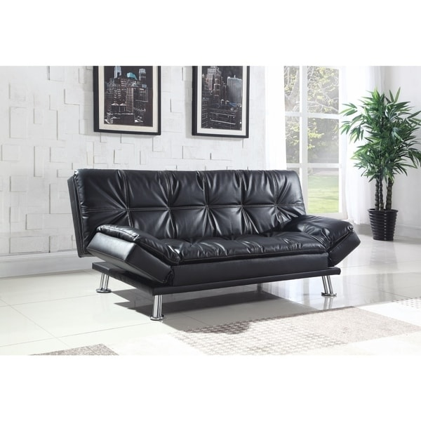 Modern Styled Comfortable Sofa Bed, Black