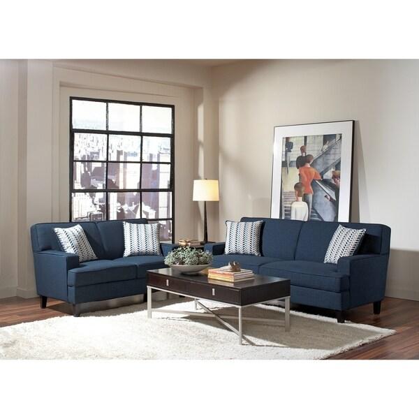 Lavish Ultra Modern Sofa With Upholstery Blue