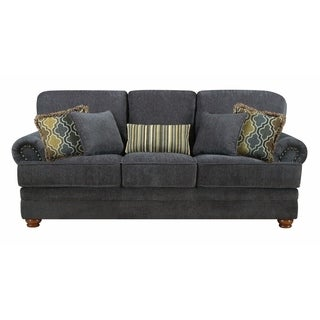 ELegant Traditional Sofa, Smokey Gray