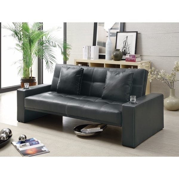 Contemporary Styled Sofa Bed with Casual Furniture Style, Black