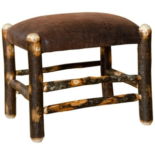 Link to Rustic Hickory Fabric Ottoman Similar Items in Living Room Furniture