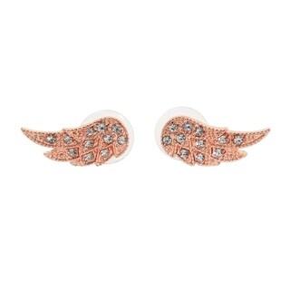 Eternally Haute 14k Rose Gold plated Angel Wings Ear Climber