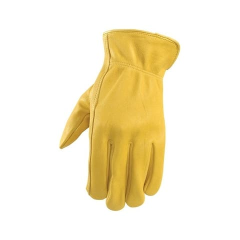 Wells Lamont Yellow Men's Extra Large Leather Driver Gloves