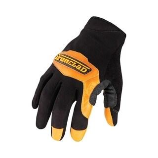 Ironclad Black Universal Large Leather Cowboy Gloves