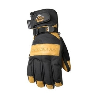 Wells Lamont Black/Tan Universal 2X-Large Cowhide Leather Winter Gloves