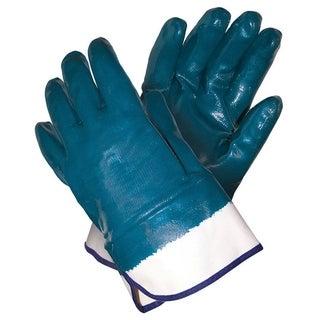 MCR Safety Blue Men's Large Nitrile Coated Work Gloves