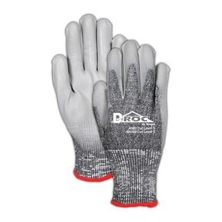 HandMaster Max Defense Black/Gray Men's Extra Large Polyurethane Cut Resistant Work Gloves