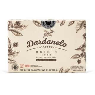 Colombian Coffee K-Cup Dardanelo Roasted and Freshly Packed in Colombia 24 Count