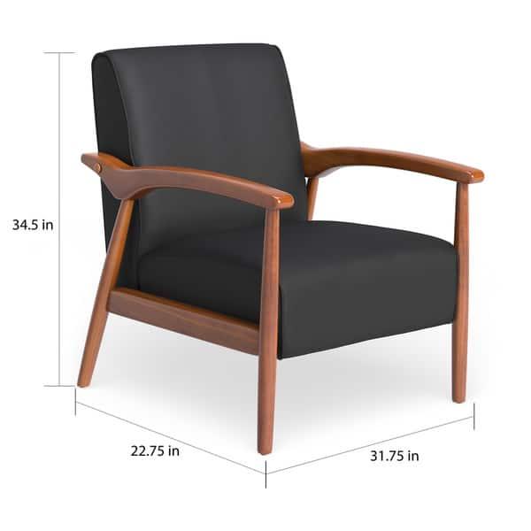 Astounding Shop Carson Carrington Gracie Mid Century Black Bonded Le Dailytribune Chair Design For Home Dailytribuneorg