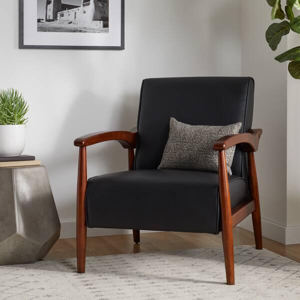 Wondrous Shop Carson Carrington Gracie Mid Century Black Bonded Le Dailytribune Chair Design For Home Dailytribuneorg