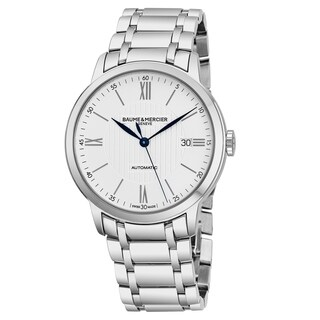 Baume Mercier Men's MOA10215 'Classima' Silver Dial Stainless Steel Swiss Automatic Watch