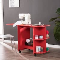 Harper Blvd Eastwick Farmhouse Red Sewing Table/Craft Station - farmhouse red