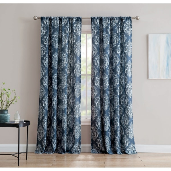 Alma 84-inch Window Curtain with Rod Pocket -Single Panel, Inspired Surroundings by 1888 Mills. Opens flyout.