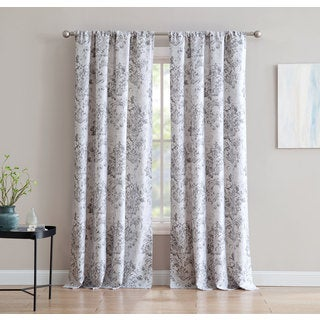 An Damask 84-inch Window Curtain with Rod Pocket -Single Panel, Inspired Surroundings by 1888 Mills