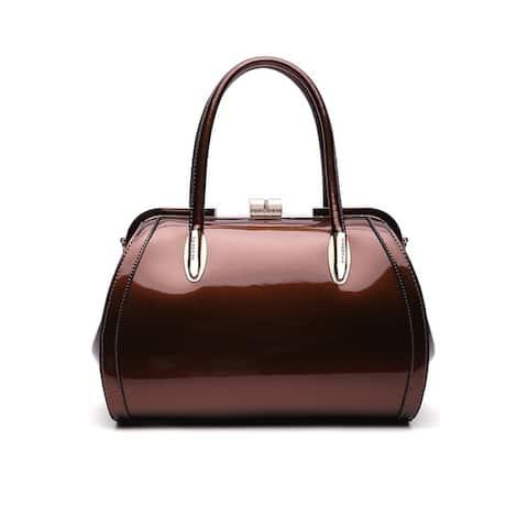 MKF Collection by Mia K. Marlene Patent Satchel Handbag