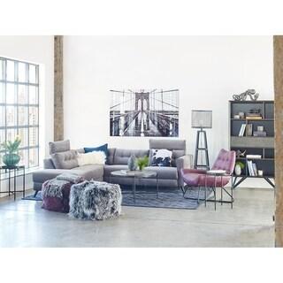 Aurelle Home Grey Scandinavian Modern Motion Sectional Sofa