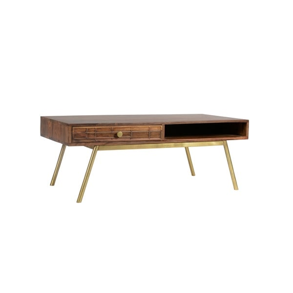 Shop Aurelle Home Mid-Century Modern Storage Coffee Table