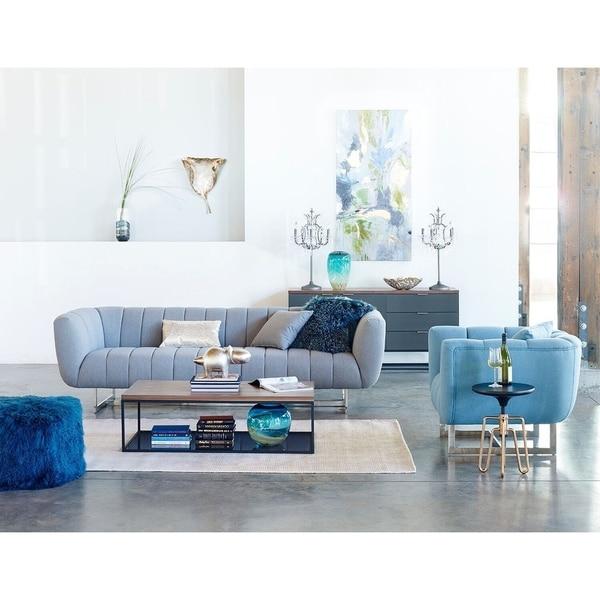 Shop Aurelle Home Italian Modern Channel-tufted Sofa