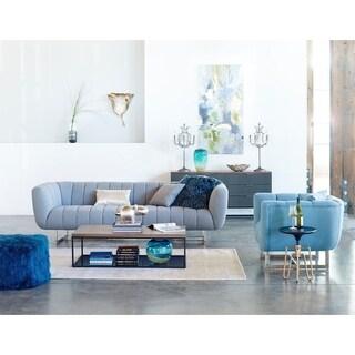 Aurelle Home Italian Modern Channel-tufted Sofa