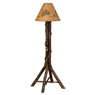 Rustic Hickory Floor Lamp