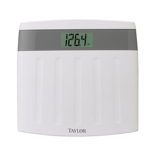 Taylor 350 lb. Digital Bathroom Scale White/Gray