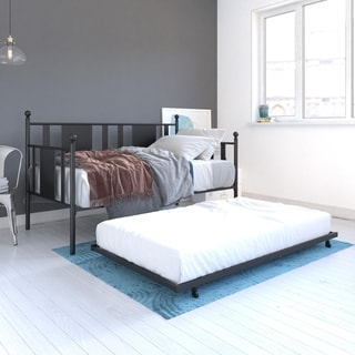 DHP Langham Black Metal Daybed with Trundle