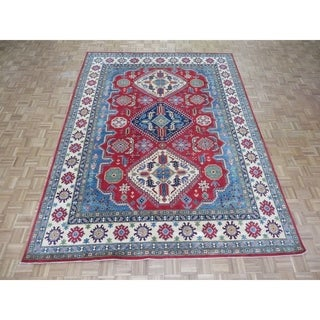 """Hand Knotted Red Kazak with Wool Oriental Rug - 8'11"""" x 11'10"""""""