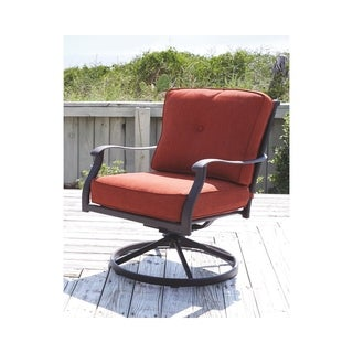 Gracewood Hollow Bannerji Orange Swivel Chairs Set of 2