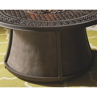 Gracewood Hollow Bannerji Brown Fire Pit Table Base Only