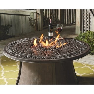 Gracewood Hollow Bannerji Brown Fire Pit Table Top Only
