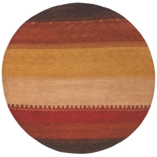 Momeni Desert Gabbeh Hand-Knotted Wool Rug (8' X 8' Round) - 8' x 8'