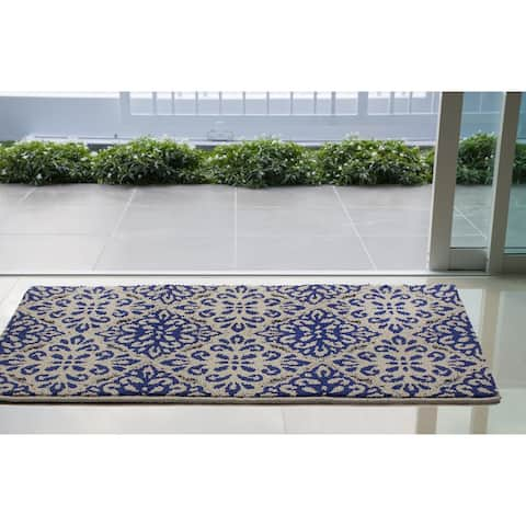 Jean Pierre Candice Loop Accent Rug, Grey/Ink Blue - 2'8 x 4'8
