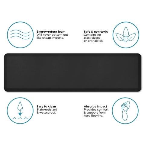 NewLife Utility Comfort Mat Leather Grain Black - 1'8 x 6'