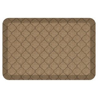 Chef's Relief Kitchen Comfort Mat - Trellis - 20x30 - 1'8 x 2'6 (Option: Taupe)