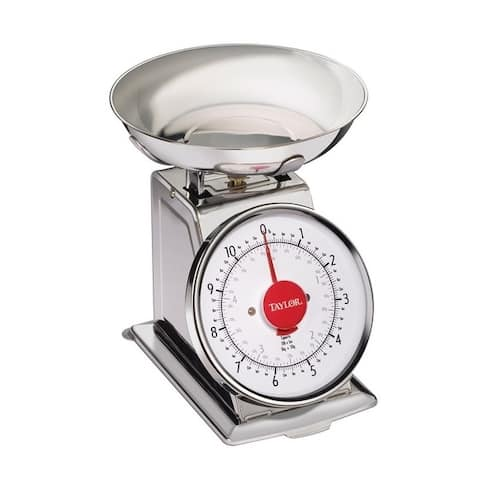 Taylor Silver Analog Mechanical Scale 11 Weight Capacity