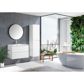 The Frost Collection 30 Inch Floating Modern Bathroom Vanity