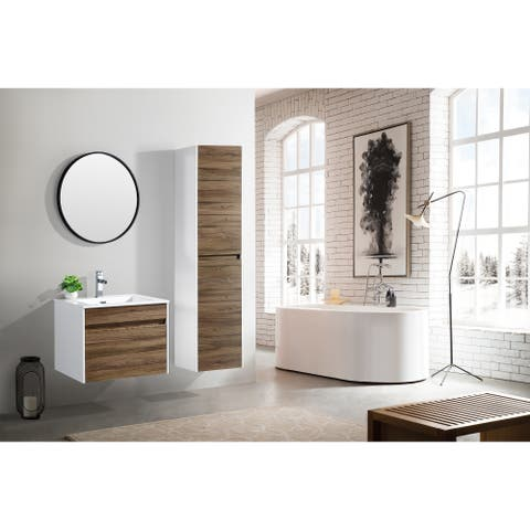 The Ivy Collection 24 Inch Floating Modern Bathroom Vanity - Vine
