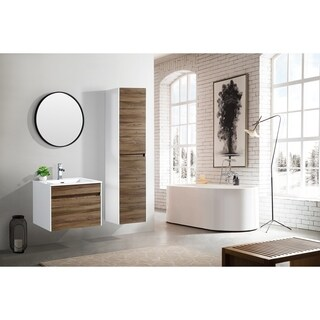 The Ivy Collection 24 Inch Floating Modern Bathroom Vanity
