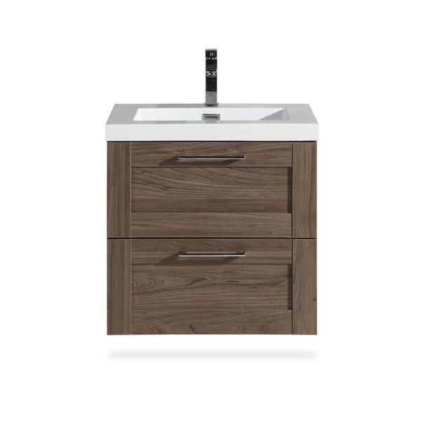 The Cosmo Collection 24 Inch Floating Modern Bathroom Vanity