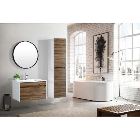 The Ivy Collection 30 Inch Floating Modern Bathroom Vanity - Vine
