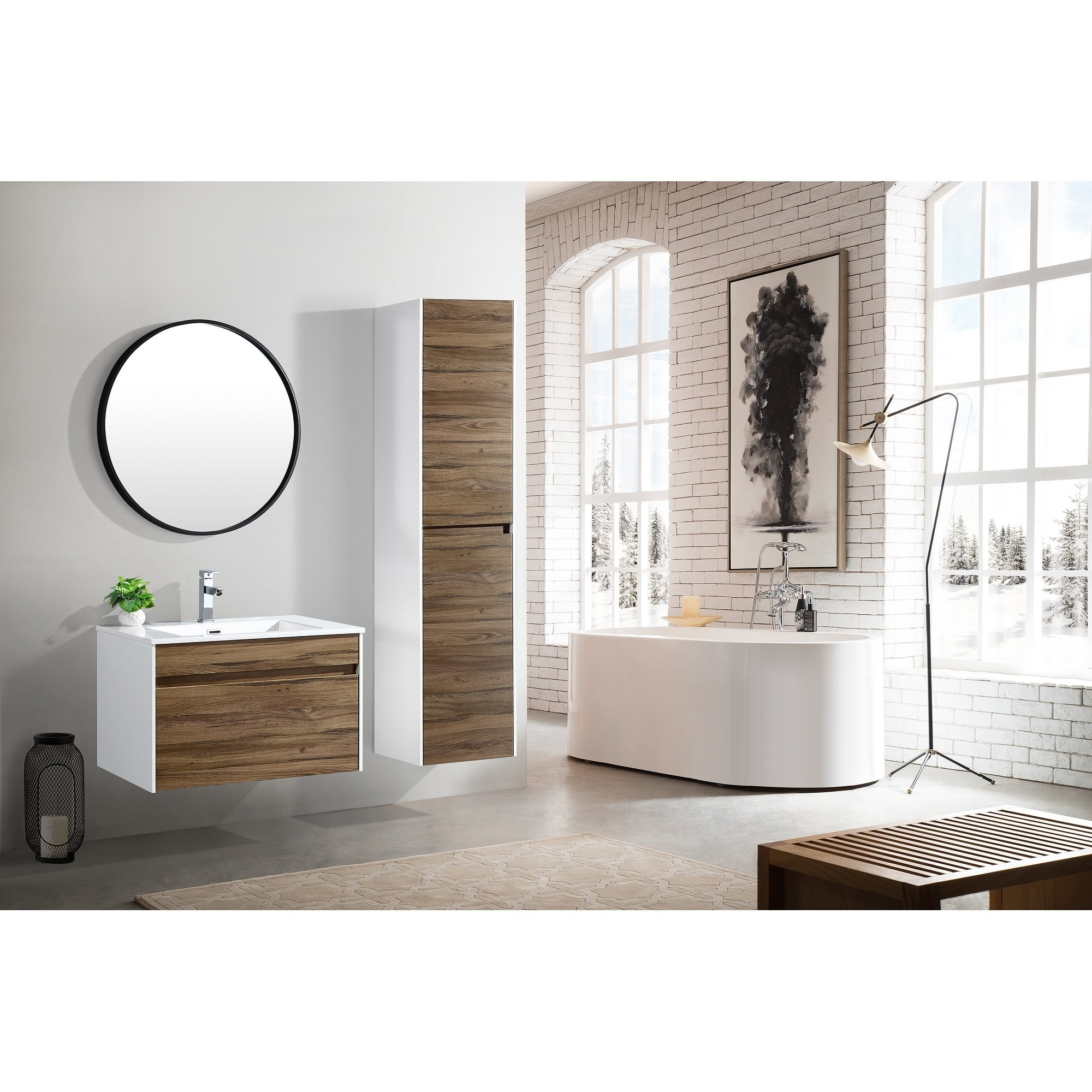 The Ivy Collection 30 Inch Floating Modern Bathroom Vanity Overstock 20979050